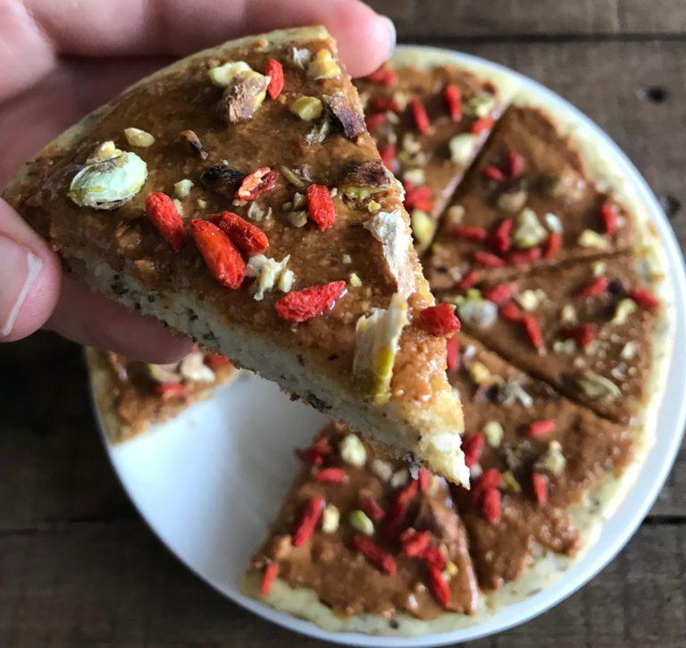 Grain-free Breakfast Pancake Pizza