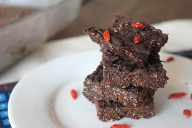 Raw Chocolate Goji Berry Crunchies